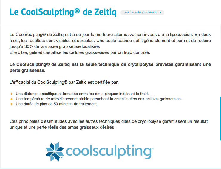 CoolSculpting / Jeune Vieillis Pas